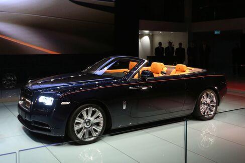 The Rolls-Royce Dawn at Frankfurt.