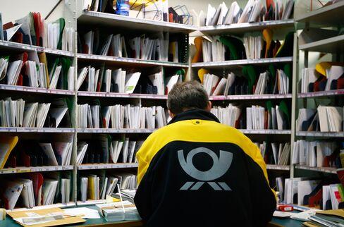 Deutsche Post Mail Sorting Room