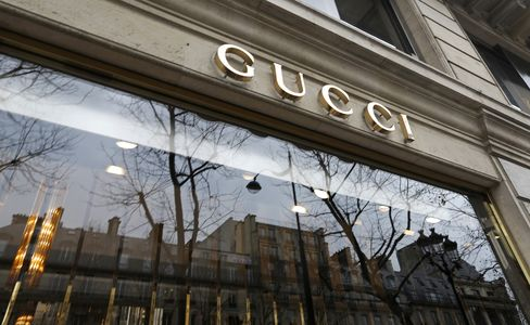 A Gucci Luxury-Goods Store