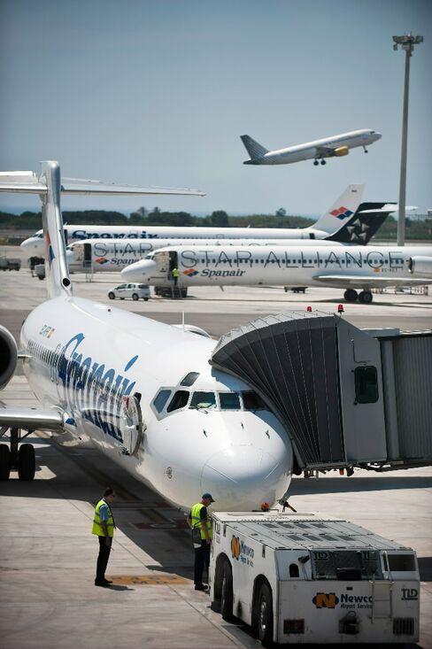Spanair Planes at Barcelona Airport