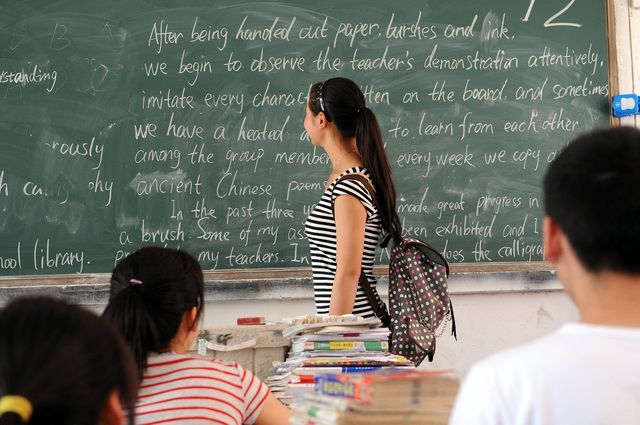 High school seniors preparing for college entrance examinations in China.  (TopPhoto via AP Images)