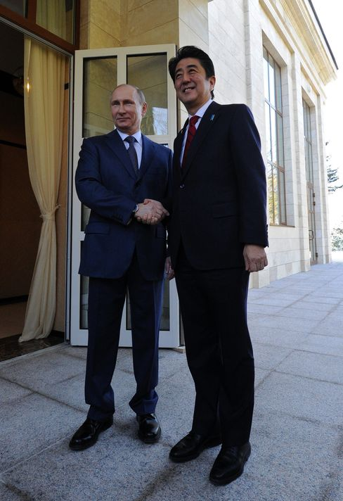 Russia's President Putin and Japan's Prime Minister Abe
