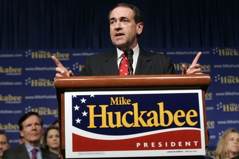 Mike Huckabee Campaigning in 2008