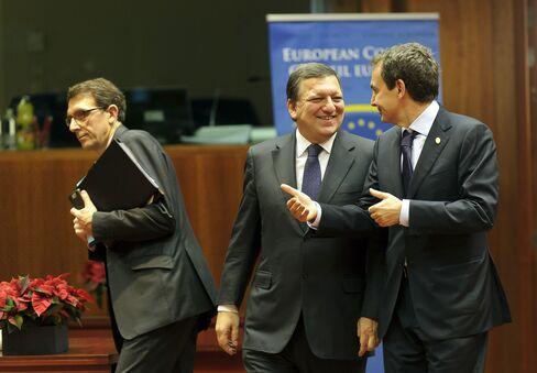 Jose Manuel Barroso and Jose Luis Rodriguez Zapatero
