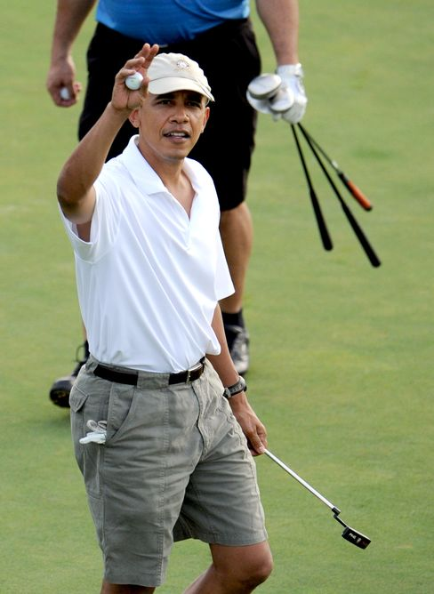 Obama Eases Into Second Term With Weekend of Golf in Florida