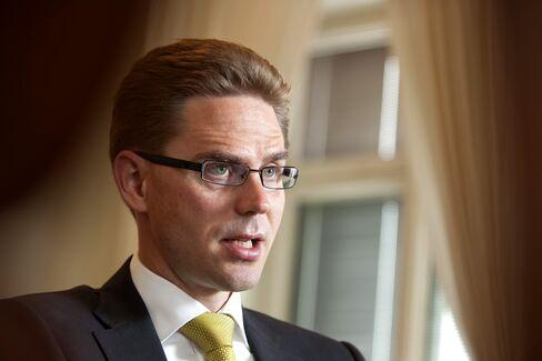 Finland's Finance Minister Jyrki Katainen