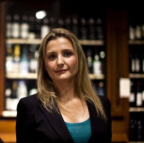 Ana Paula Galvani at the Sherry-Lehmann wine shop