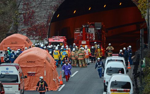 Nine Confirmed Dead in Japan Highway Tunnel Collapse
