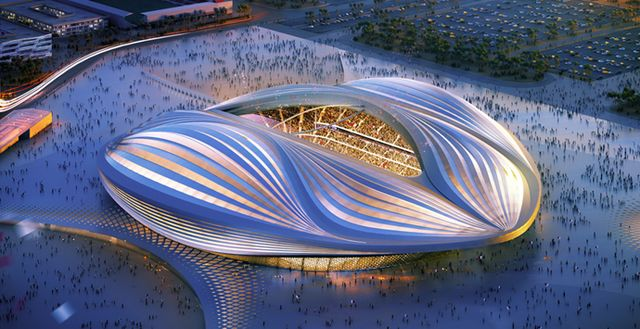 The concept for the Al Wakrah Stadium. Source: Qatar 2022 Supreme Committee