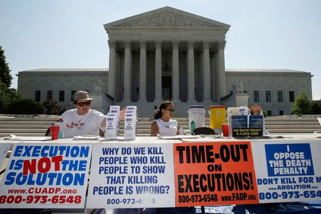 Evidence is mounting on the side of death penalty opponents. Photographer: Alex Wong/Getty Images