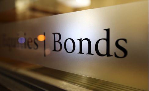 A 'Bonds' Sign Sits on a Window of a Private Brokerage in London