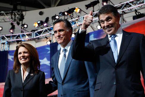 Perry Makes Presidential Debate Debut, Spars With Romney