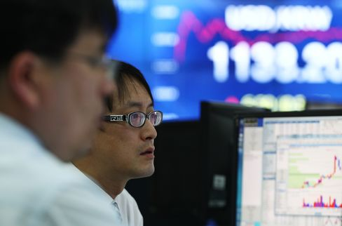 Most Emerging Stocks Fall as Kospi Drops on N.Korea Nuclear Test