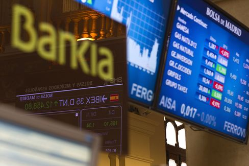 Spain Values Bankia Shares at 1 Euro-Cent as Debt Swap Looms