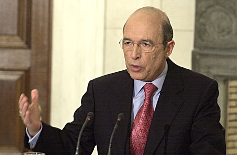 Former Greece's Prime Minister Costas Simitis