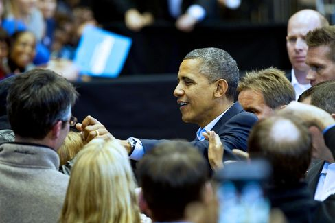 Obama Finds Voice by Losing It in Bid to Save Re-Election