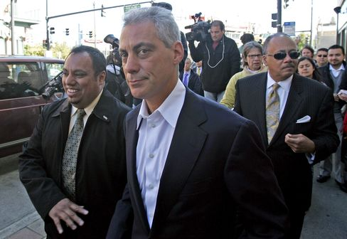 Candidate for Mayor of Chicago Rahm Emanuel
