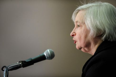 While Janet Yellen, vice chairman of the U.S. Federal Reserve, has spent her years in Washington deepening her ties to the Fed's regional presidents, she has devoted comparatively little time to building political relationships. Photographer: Pete Marovich/Bloomberg