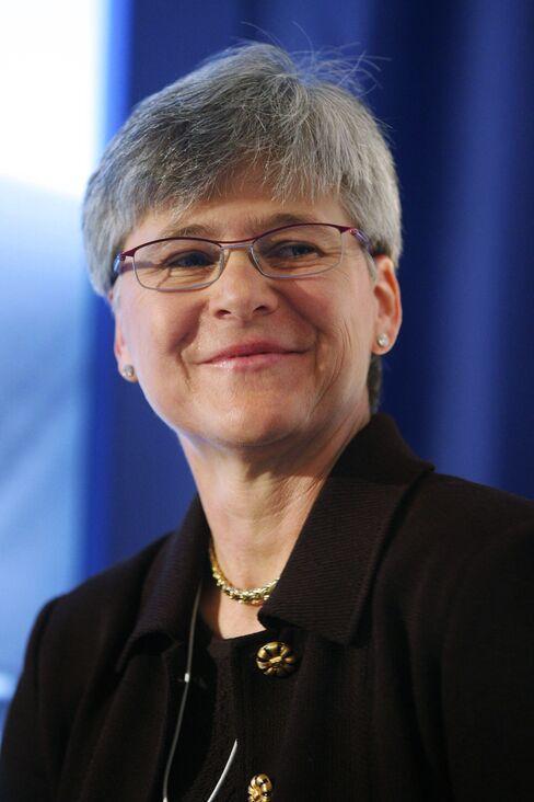 Mercer Chief Executive Officer Michele Burns. Photographer: Adam Berry/Bloomberg