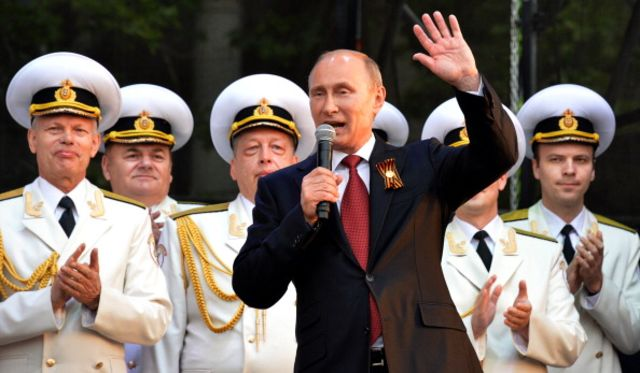 "Unfortunately, that's not that Russian Police Choir performing ""Get Lucky"" in the background."