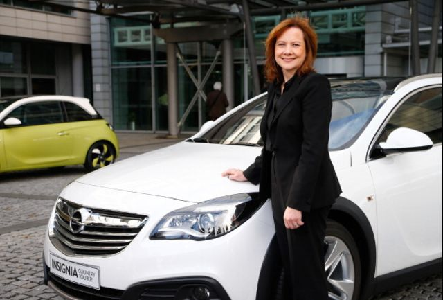 Mary Barra is pretty sure this is a car, but she won't swear to it. Photographer: Ralph Orlowski/Bloomberg
