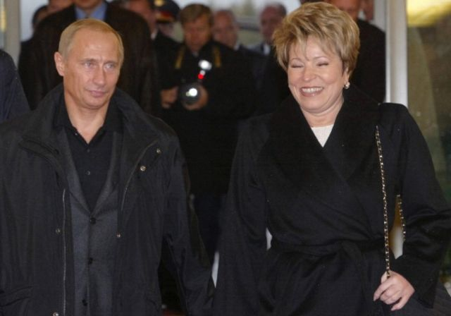Looks like Putin and Valentina Matviyenko have enjoyed a chuckle before.Photographer: Anatoly Maltsev/AFP/Getty Images