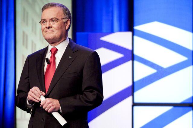 In the end, former Bank of America boss Ken Lewis has something to celebrate. Photographer: Jason Miczek/Bloomberg