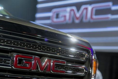 General Motors Co.'s 2015 GMC Canyon Truck Sits in Detroit