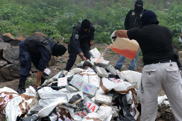 Eighty percent of the cocaine in the U.S. passesthrough Central America.Photographer: Orlando Sierra/AFP/Getty Images