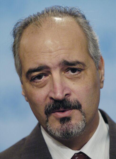 Syria's UN Ambassador Bashar Ja'afari