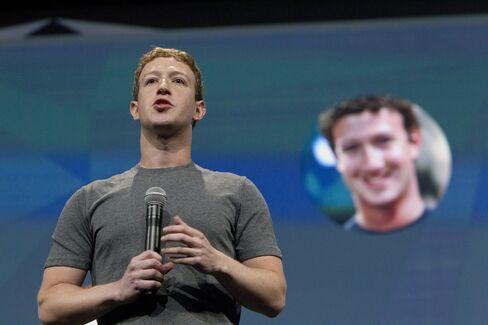 Facebook Inc. Chief Executive Officer Mark Zuckerberg