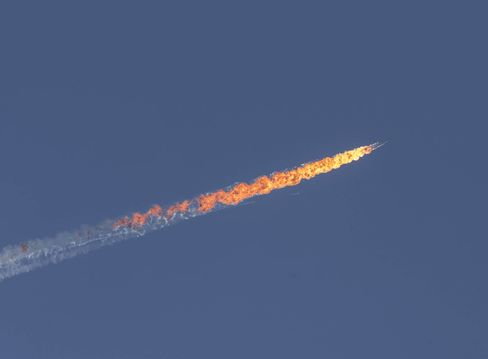 Aircraft goes down near Turkey's border