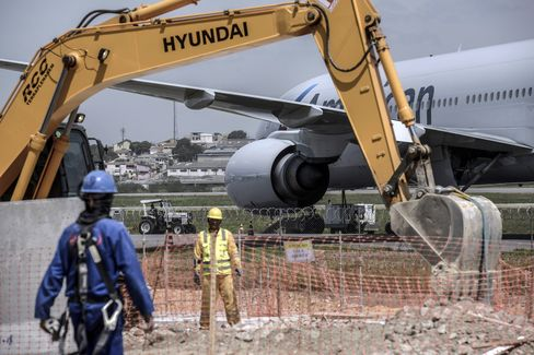 Construction at Franco Montoro International Airport