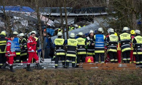 Four dead, 150 hurt in train crash in Bavaria, German police say