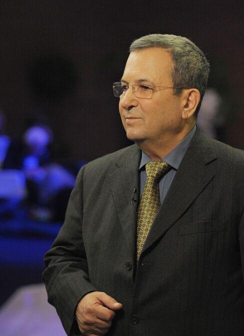 Israeli Defense Minister Ehud Barak
