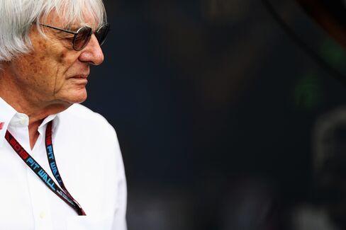 Formula One Chief Executive Officer Bernie Ecclestone