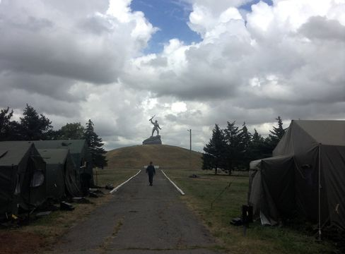 A Refugee Camp in  Alekseevka, Russia