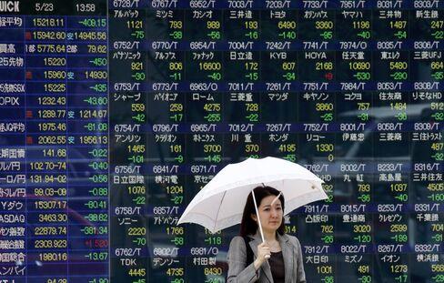 Japan's Stocks Correction Raises Stakes for Abe's Growth Plan