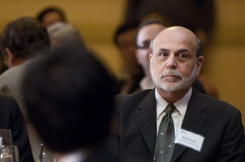 Ben S. Bernanke, chairman of the U.S. Federal Reserve. The Fed will see cheaper commodities as reinforcing the need to keep buying assets through this year, said Joseph Gagnon, a senior fellow at the Peterson Institute for International Economics in Washington and a former Fed staffer.  Photographer: Joeff Davis/Bloomberg