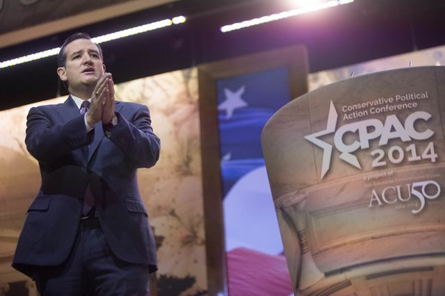 Senator Ted Cruz takes center stage. Photographer: Andrew Harrer/Bloomberg