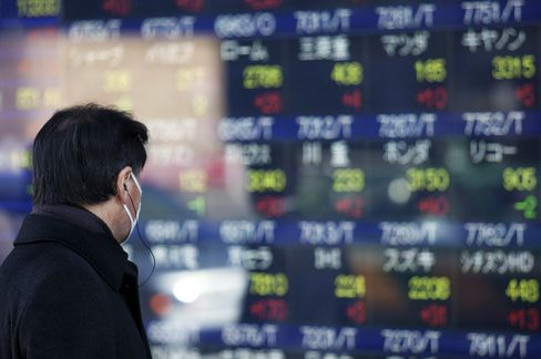 Asia Stocks Decline for Third Day as Japan Exporters Fall on Yen