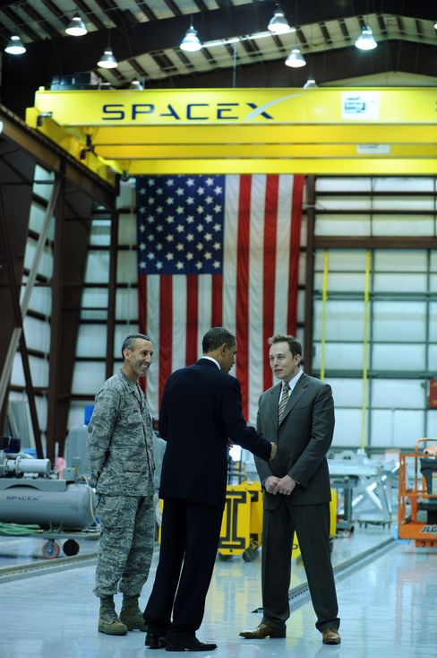 U.S. President Barack Obama Tours SpaceX Launch Pad