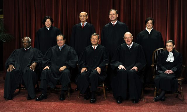Should two of these justices retire? Photographer: Roger L. Wollenberg/Pool via Bloomberg
