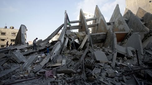 Destroyed Building in Gaza
