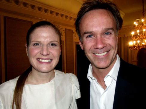 Chef Marcus Wareing with Chantelle Nicholson