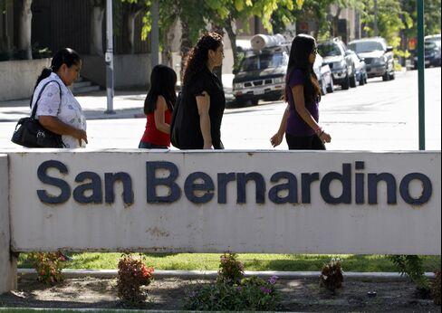 Bankrupt San Bernardino Skips $1 Million Pension-Bond Payment