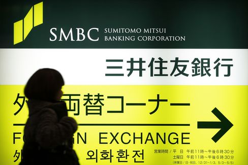 Sumitomo Mitsui Leads Megabanks Higher on Earnings