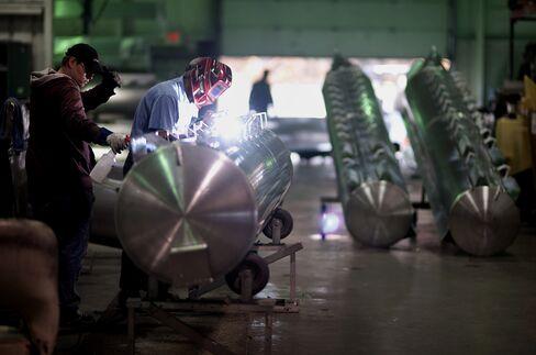ISM Index of U.S. Manufacturing Increased