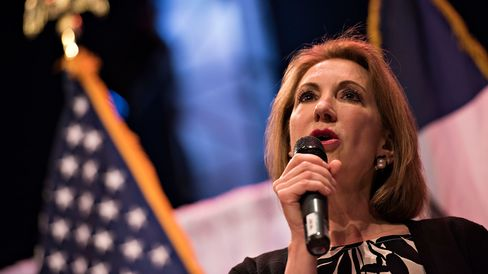 Carly Fiorina speaks in Waukee, Iowa, on April 25, 2015.