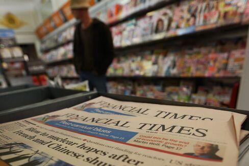 Pearson Said to Explore Financial Times Sale as Scardino Leaves